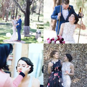 Daylesford wedding hair and makeup