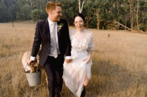 Rustic wedding hair and makeup Yarra Valley